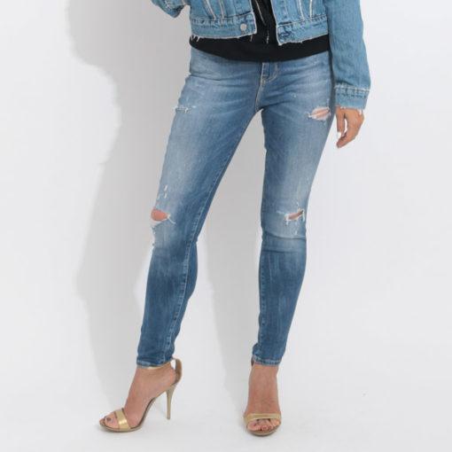 Jeans GUESS vita alta strappati-1