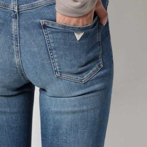 Jeans GUESS vita alta strappati-5
