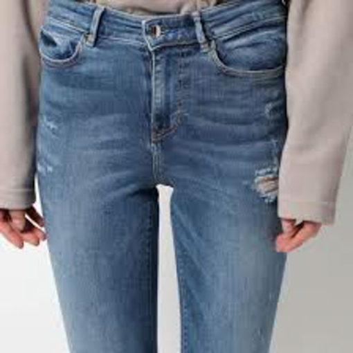 Jeans GUESS vita alta strappati-2