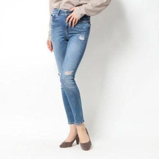 Jeans GUESS vita alta strappati