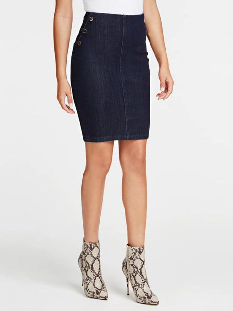 GUESS gonna in jeans scuro con bottoni-1