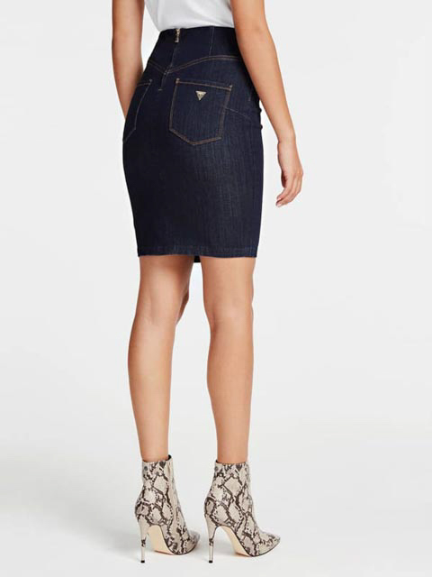 GUESS gonna in jeans scuro con bottoni-2