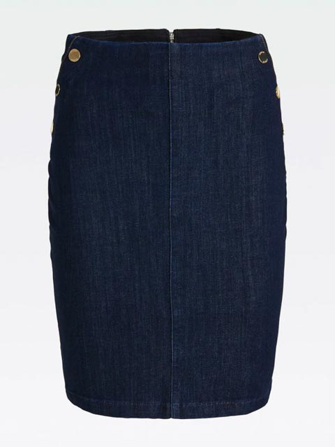 GUESS gonna in jeans scuro con bottoni-3