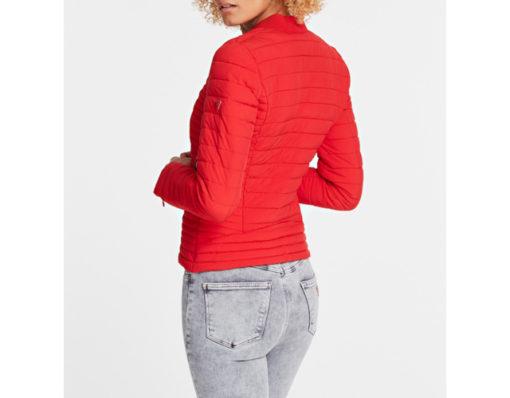GUESS piumino donna rosso elasticizzato-1