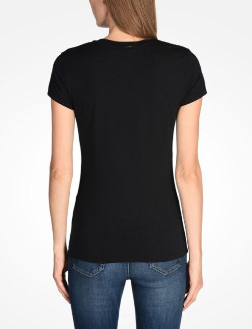 T-shirt scollo a v Armani Exchange con scritta logo -9