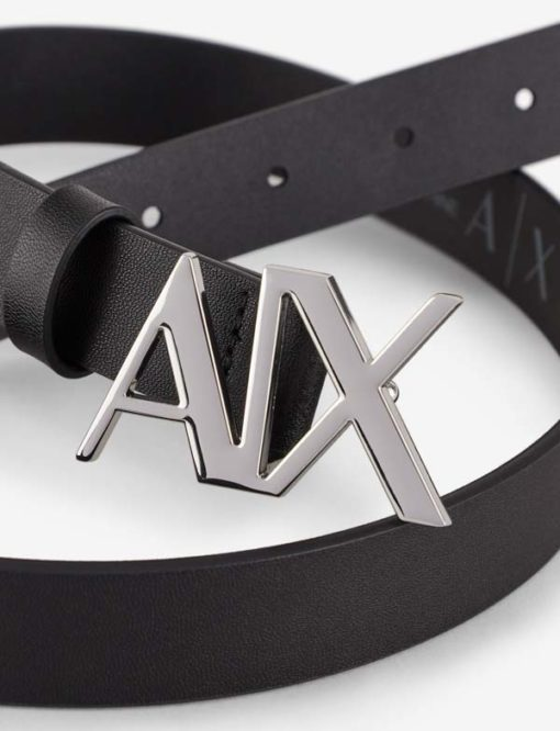cintura pelle blu Armani Exchange donna fibbia A|X-2