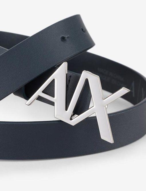 cintura pelle nera Armani Exchange donna fibbia A|X-2