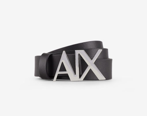 cintura pelle nera Armani Exchange donna fibbia A|X