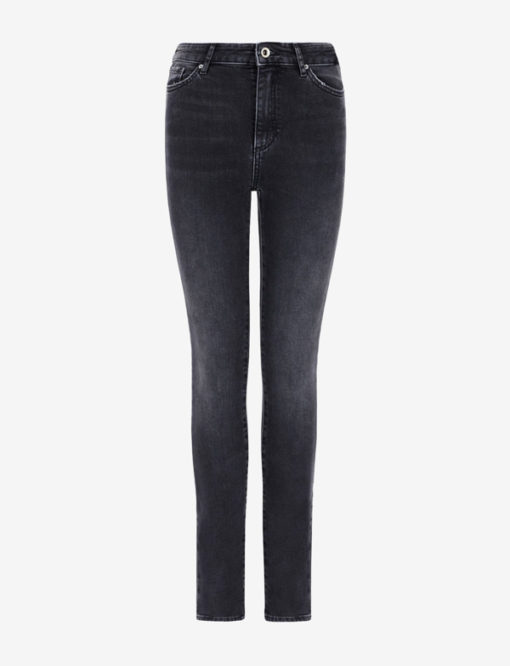 Jeans Armani Exchange nero donna vita alta slim fit-2