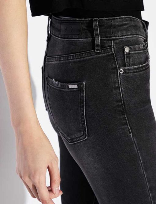 Jeans Armani Exchange nero donna vita alta slim fit-1