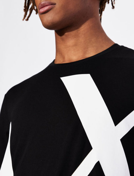T-shirt Armani uomo con macro-logo AX-3