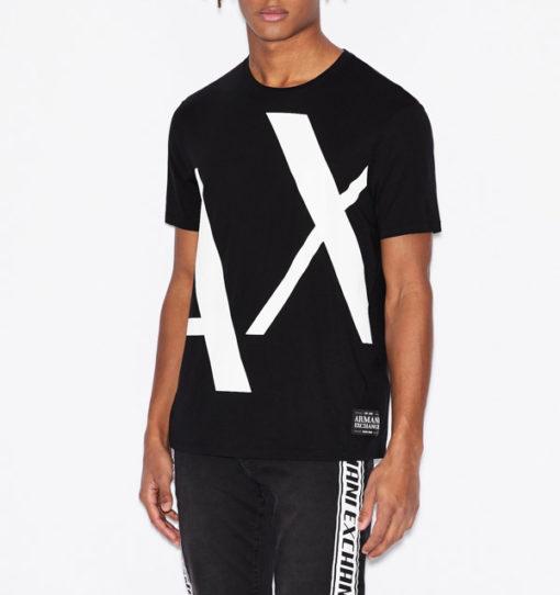 T-shirt Armani uomo con macro-logo AX-1