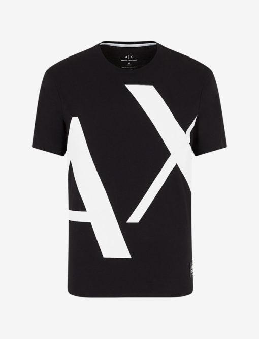 T-shirt Armani uomo con macro-logo AX-5