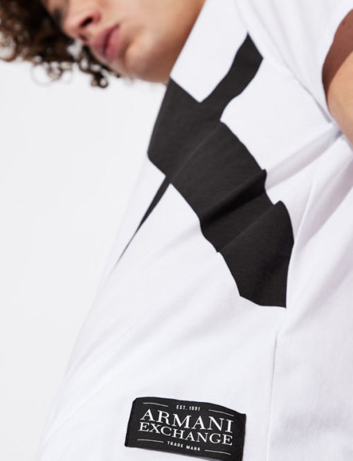 T-shirt Armani uomo con macro-logo AX-4