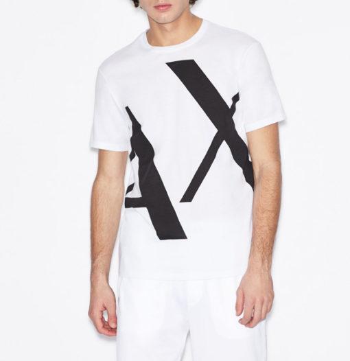 T-shirt Armani uomo con macro-logo AX