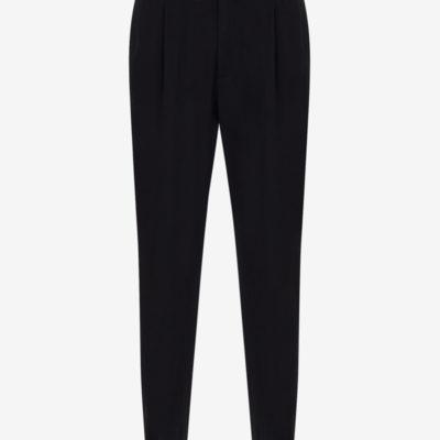 Pantalone nero Armani Exchange in twill stretch da uomo