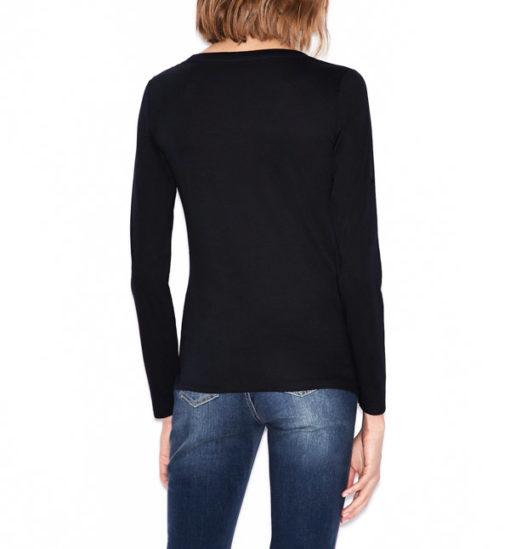 maglietta manica lunga Armani Exchange da donna con logo-5