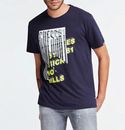 Maglietta in cotone uomo GUESS con stampa