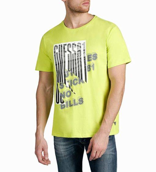 Maglietta in cotone uomo GUESS con stampa-1
