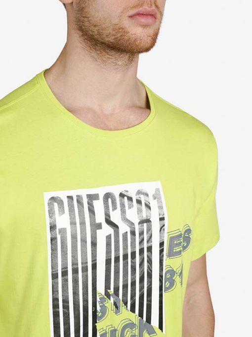 Maglietta in cotone uomo GUESS con stampa-3