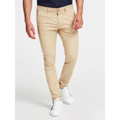 GUESS pantalone skinny da uomo beige
