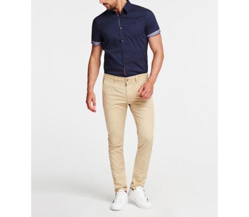 GUESS pantalone skinny da uomo beige-2