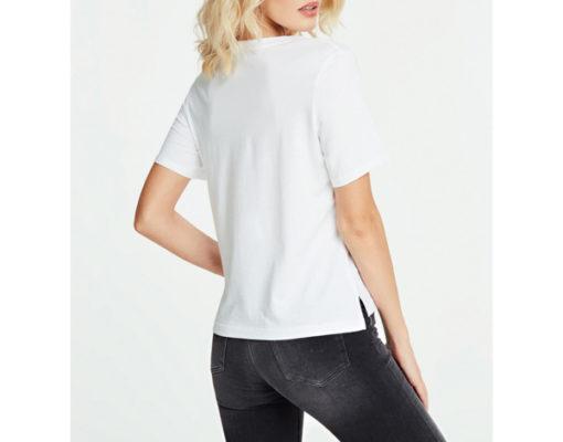 GUESS t-shirt morbida da donna con scritta con applicazioni-5
