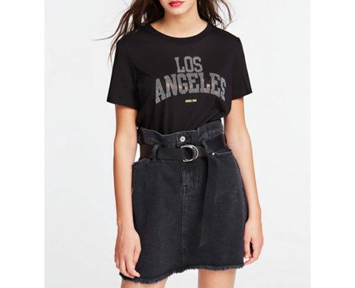 GUESS t-shirt morbida da donna con scritta con applicazioni-1