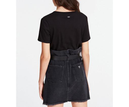 GUESS t-shirt morbida da donna con scritta con applicazioni-6