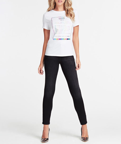 GUESS t-shirt con stampa da donna regular fit-2