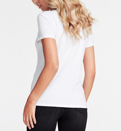 GUESS t-shirt con stampa da donna regular fit-5