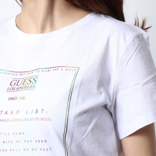 GUESS t-shirt con stampa da donna regular fit-3