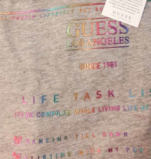 GUESS t-shirt con stampa da donna regular fit-1