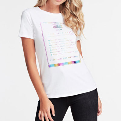 GUESS t-shirt con stampa da donna regular fit