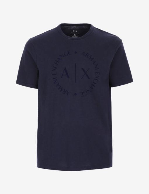 maglietta uomo con logo frontale tono su tono Armani Exchange-5