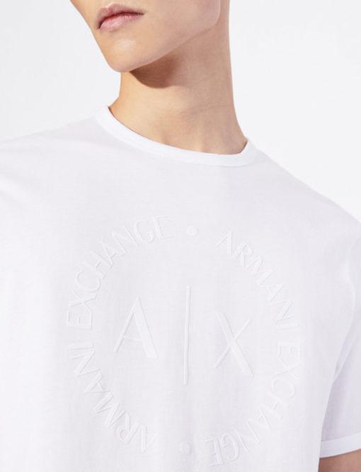maglietta uomo con logo frontale tono su tono Armani Exchange-2