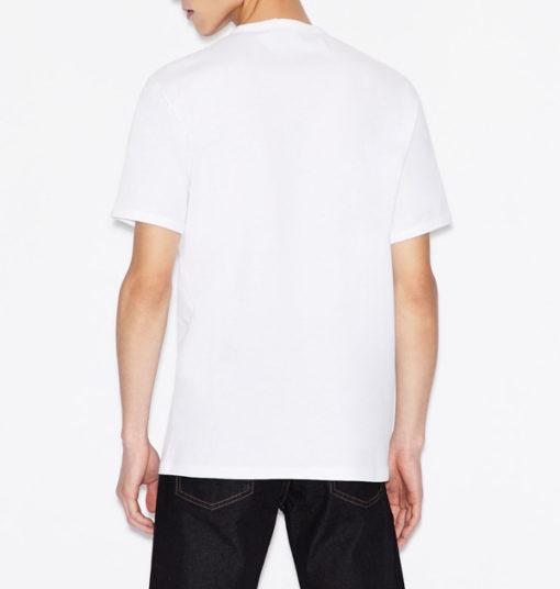 maglietta uomo con logo frontale tono su tono Armani Exchange-6