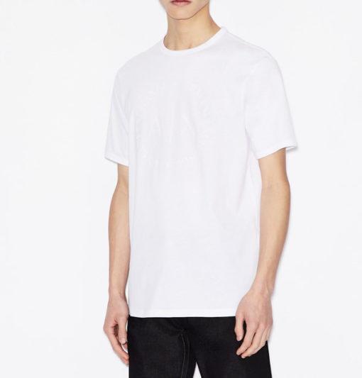 maglietta uomo con logo frontale tono su tono Armani Exchange