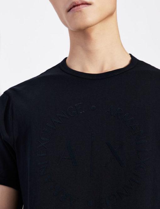 maglietta uomo con logo frontale tono su tono Armani Exchange-3