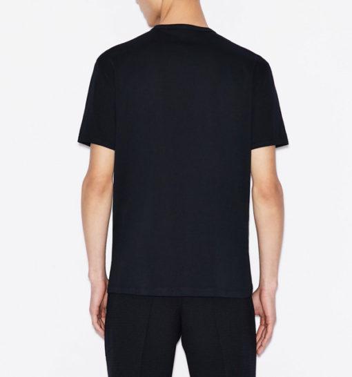 maglietta uomo con logo frontale tono su tono Armani Exchange-7