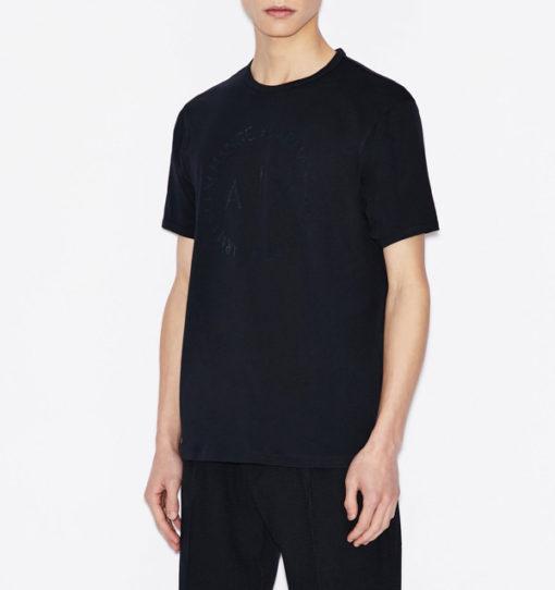 maglietta uomo con logo frontale tono su tono Armani Exchange-1