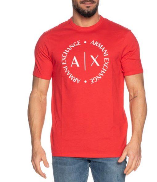 maglietta uomo con logo frontale Armani Exchange