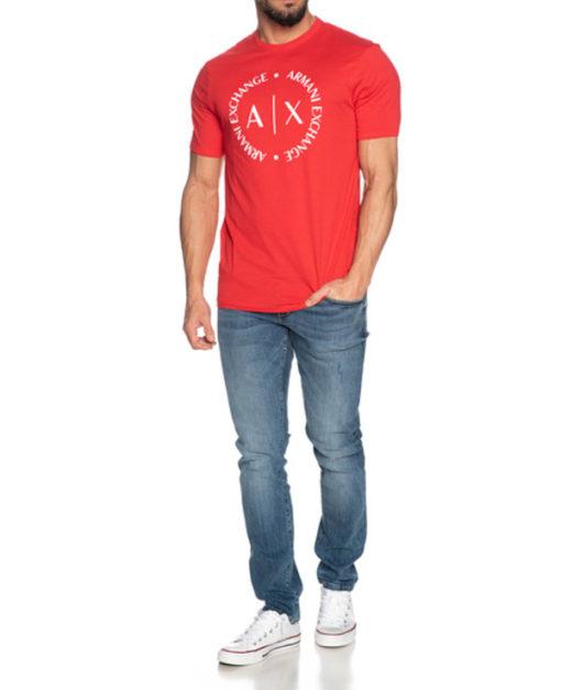 maglietta uomo con logo frontale Armani Exchange-1