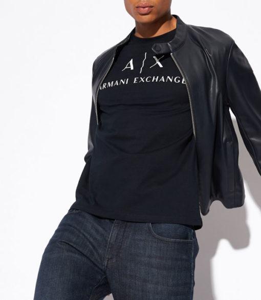 Armani t-shirt con logo circolare da uomo-2