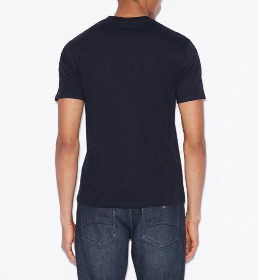 Armani t-shirt con logo circolare da uomo-4