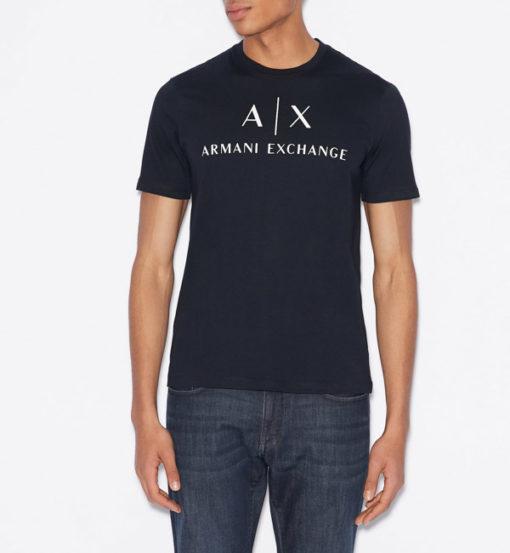 Armani t-shirt con logo circolare da uomo