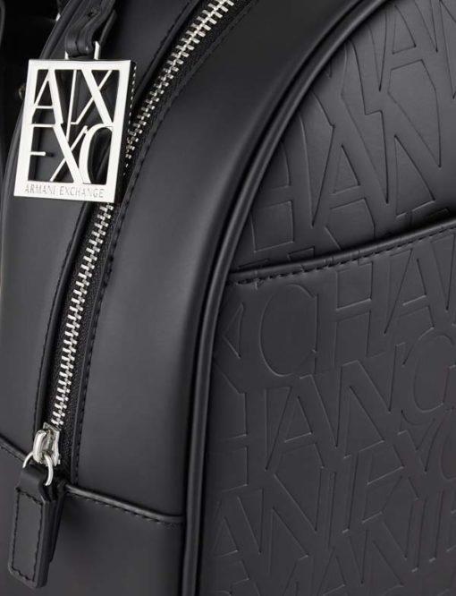 zaino da donna con scritta logo Armani Exchange-5