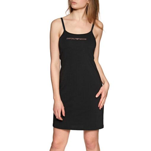 Emporio Armani vestito corto nero in maglina-2