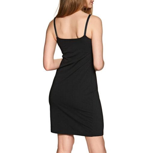 Emporio Armani vestito corto nero in maglina-3