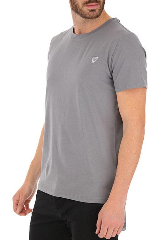 T-shirt GUESS uomo tinta unita con piccolo logo-3